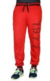 Finger's Printed Men's Red Track Pants