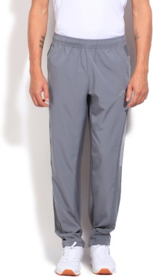 Adidas Solid Men's Grey Track Pants