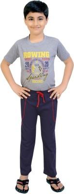 Be 13 Solid Boy's Dark Blue Track Pants