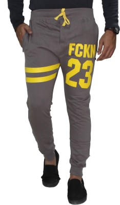 Body Tantrum Solid Men,s Grey Track Pants