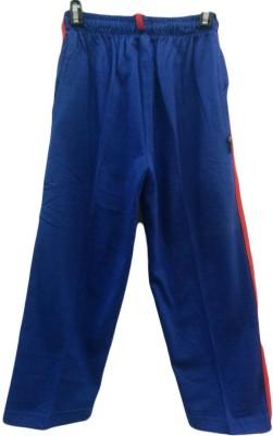 Angel Kids Solid Boy's Blue Track Pants