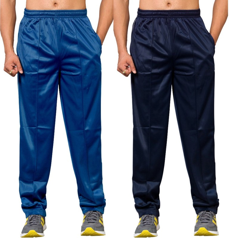 Stylcozy Solid Women's Light Blue, Dark Blue Track Pants