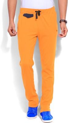 American Swan Solid Men's Orange Track Pants
