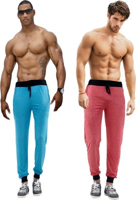 Billu Oye Solid Men's Red, Blue Track Pants
