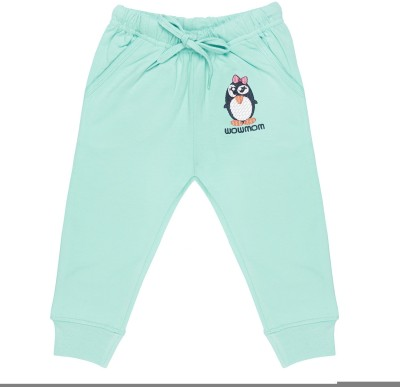 Wow Mom Applique Baby Girl,s Light Blue Track Pants