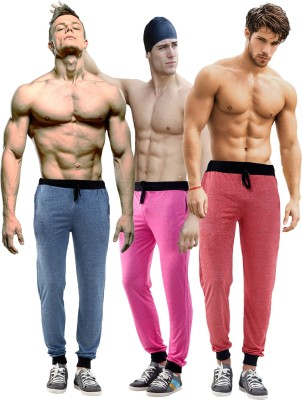 Billu Oye Solid Men's Red, Dark Blue, Pink Track Pants
