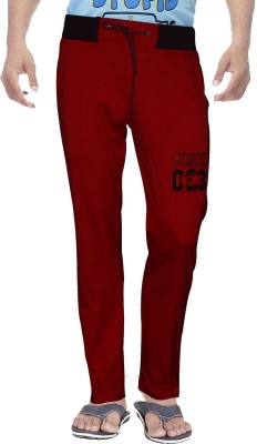 Clickroo Solid Men's Red Track Pants