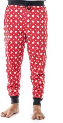 Shootr Printed Men,s Red Track Pants