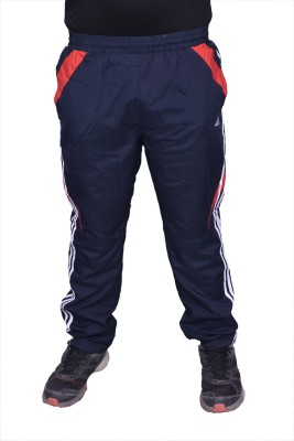 Front Look Club Solid Men's Black, Red Track Pants
