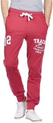 American Swan Solid Men's Red Track Pants