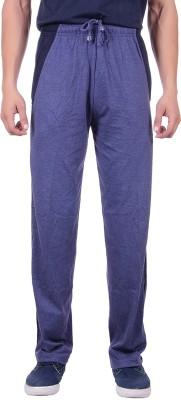 Sprig Striped, Solid Men's Blue, Dark Blue Track Pants