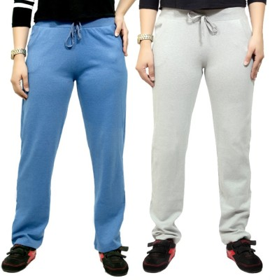 By The Way Solid Women's Blue, White Track Pants