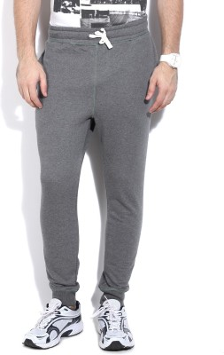 Reebok Solid Men's Grey Track Pants