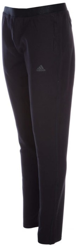 Adidas Solid Women's Black Track Pants