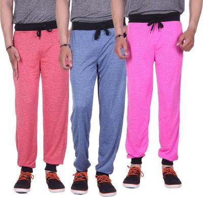 Gag Wear Solid Men's Red, Dark Blue, Pink Track Pants