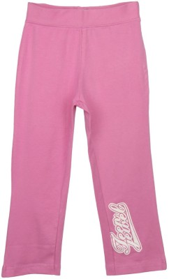 Eimoie Solid Girl's Pink Track Pants