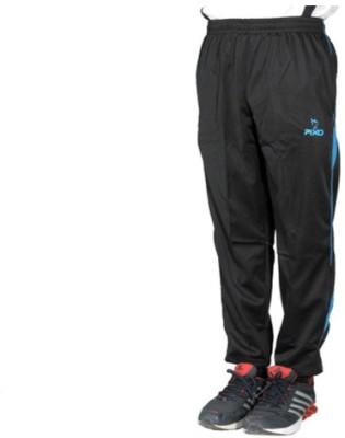 Pixo Solid Men's Black Track Pants