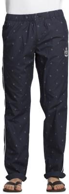Beevee Printed Men's Dark Blue Track Pants
