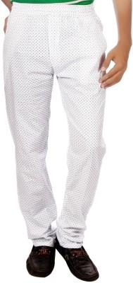 AADUKI Printed Men's White Track Pants