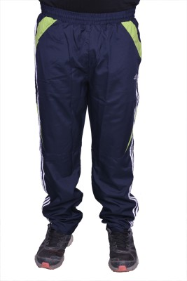 Front Look Club Solid Men's Black, Green Track Pants