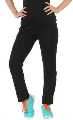 Bottoms More Solid Women's Black Track Pants