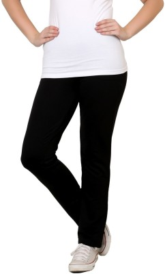 Finesse Comfortable Solid Women's Black Track Pants