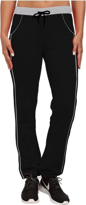 So Sweety Solid Women's Black Track Pants