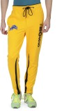 Varo Boss Solid Men's Yellow Track Pants