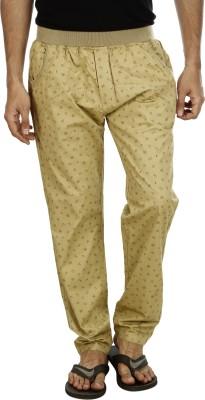 Leg-In Printed Men's Beige Track Pants