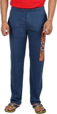 Fizzique Player Print Solid Men's Blue Track Pants