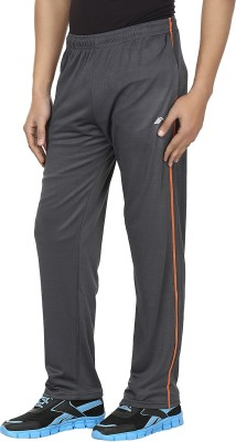 Orizzonti Solid Men's Grey Track Pants
