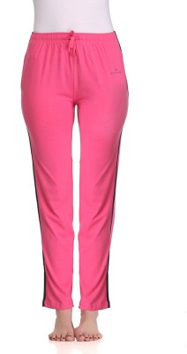 Tryd Pro Striped, Solid Women's Pink Track Pants