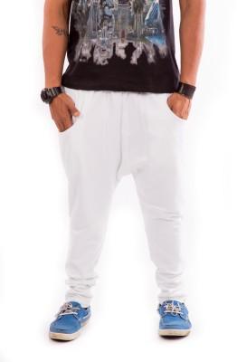 Liash Solid Men's White Track Pants