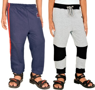 Gkidz Solid Boy,s Dark Blue, Grey Track Pants