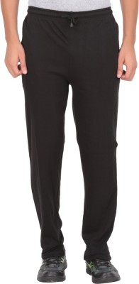 Fit & Fashion Solid Men's Black Track Pants