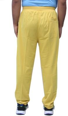 Romano Solid Men's Yellow Track Pants