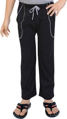 Be 13 Solid Boy's Black Track Pants