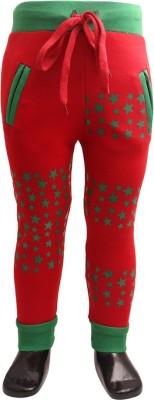 DL EMPORIUM Printed Boy's Red Track Pants