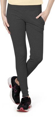 Towngirl Solid Women's Grey Track Pants