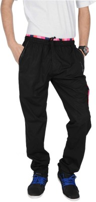 Mountain Colours Solid Men's Black Track Pants