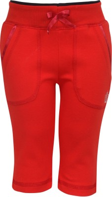 Cayman Solid Baby Girls Red Track Pants
