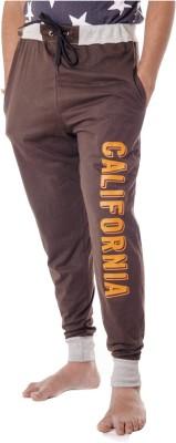 Shootr Printed Men,s Brown Track Pants