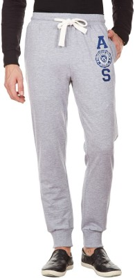 American Swan Solid Men's Grey Track Pants