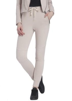Vero Moda Solid Women's Beige Track Pants at flipkart