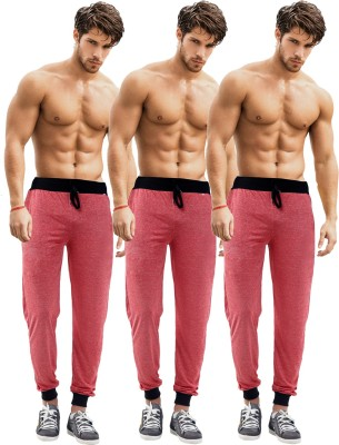 Billu Oye Solid Men's Red, Red, Red Track Pants