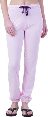 Wake Up Competition Solid Women's Pink Track Pants