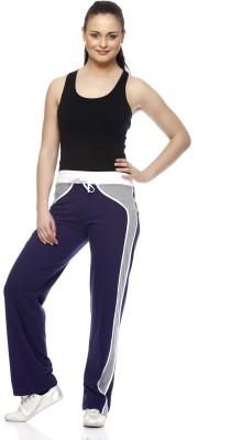 Gritstones Solid Women's Blue, Grey Track Pants