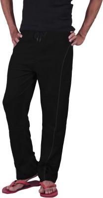 Genx Solid Men's Black Track Pants