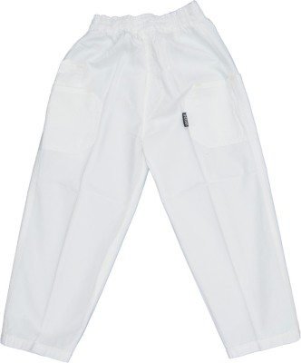 SETVEL Solid Boy's White Track Pants