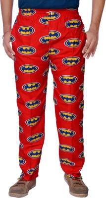 AADUKI Printed Men's Red Track Pants